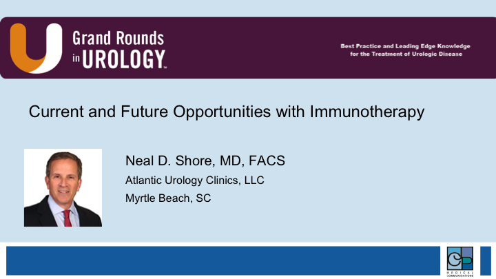Current and Future Opportunities in Regards to Immunotherapy