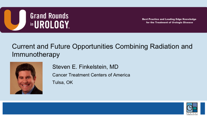 Finkelstein Current and Future Immunotherapy and Radiation Combination