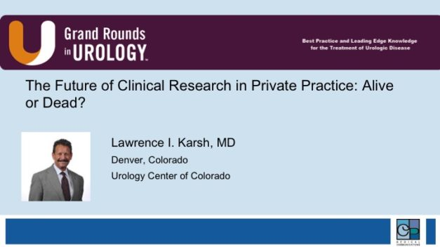 The Future of Clinical Research in Private Practice: Alive or Dead?