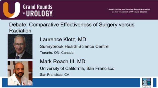 Debate: Comparative Effectiveness of Surgery versus Radiation