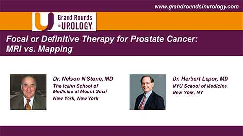 To the Point: Focal or Definitive Therapy for Prostate Cancer: MRI vs. Mapping Part II