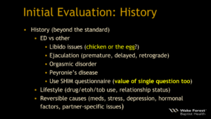 ED Initial Evaluation History