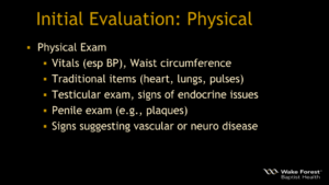 ED Initial Evaluation: Physical