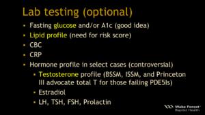 ED optional Lab testing
