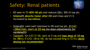 Viagra Cialis Safety Renal patients