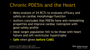 Chronic PDE5Is and the Heart