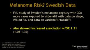 Viagra Cialis Melanoma Risk? Swedish Data