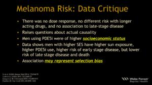 Viagra Cialis Melanoma Risk: Data Critique