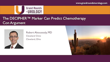 Can the DECIPHER Marker Can Predict Chemotherapy?