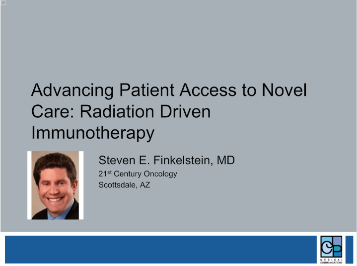 Radiation Driven Immunotherapy