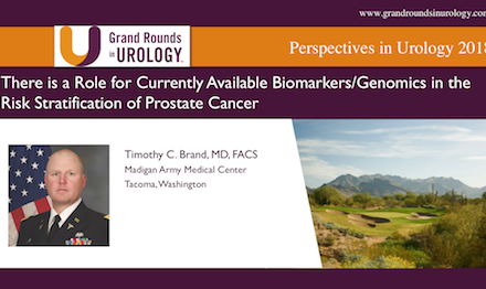 There is a Role for Currently Available Biomarkers: Genomics in the Risk Stratification of Prostate Cancer