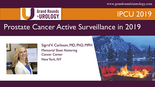 Prostate Cancer Active Surveillance in 2019