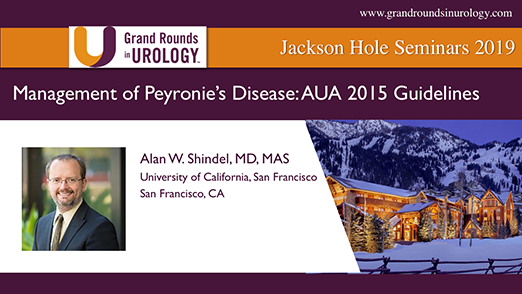 Management of Peyronie's Disease: AUA 2015 Guidelines