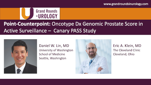 Point-Counterpoint: Oncotype Dx Genomic Prostate Score in Active Surveillance –  Canary PASS Study