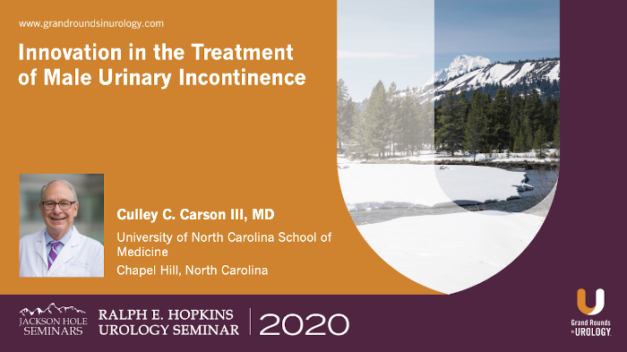 Innovation in the Treatment of Male Urinary Incontinence