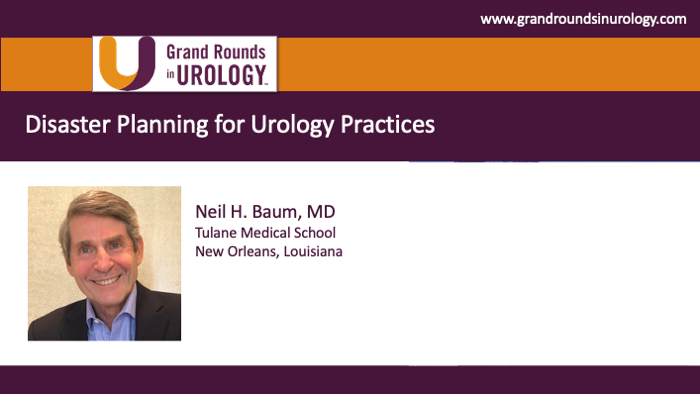Dr. Baum - Disaster Planning Urology