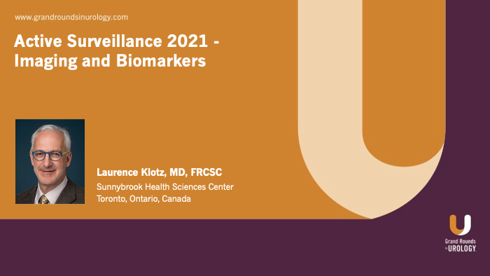 Dr. Klotz - Active Surveillance - Imaging & Biomarkers