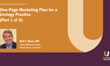 One-Page Marketing Plan for a Urology Practice (Part 1 of 3)