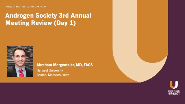 Dr. Morgentaler - Androgen Society Meeting