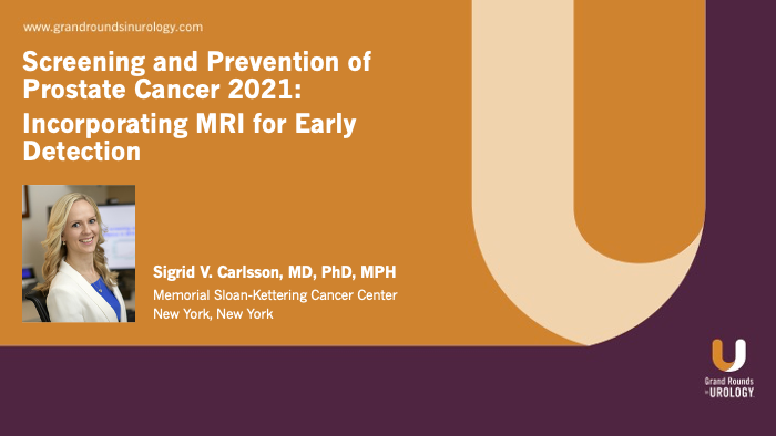 Dr. Carlsson - Incorporating MRI for Early Detection of PCa